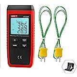 UNI-T Digital Thermometer Dual Channel Temperature Sensor K / J Type Thermocouple Sensor LCD Backlight UT320D