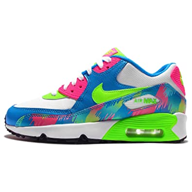Amazon | (ナイキ) エアマックス 90 プリント メッシュ GS キッズ ランニングシューズ Nike Air Max 90 Print  Mesh GS 833497-400 [並行輸入品] | スポーツ