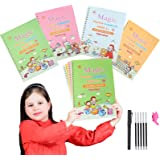 2021 Large Size Magic Practice Copybook, Reusable Calligraphy Workbook Set, Handwriting Tracing Books for Pre K, Kindergarten