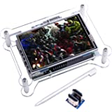 TFT Touch Screen, Kuman 3.5 Inch TFT LCD Display Monitor with Protective Case Support All Raspberry PI System, Video Movie Pl
