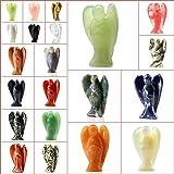 Whoelsale Hand Carved Gemstone Crystals Pray Angel 1.6 Decoration Jasper Figurine (Mix 10pcs)