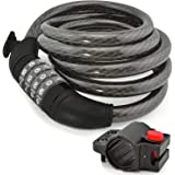 Aduro Sport Bike Lock Cable, Bicycle Master Cable Lock with 4-Digit Combination Lightweight Bike Chain Lock
