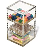 OfficeGoods Acrylic & Gold 3 Tier Organizer – Functional & Elegant Accessory Designed for Your Desk Office or Home – A Great