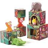 DJECO Maxi Topanijungle Nest and Stack Blocks Set, Model:DJ09101