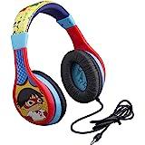 Ryans World Kids Headphones, Adjustable Headband, Stereo Sound, 3.5Mm Jack, Wired Headphones for Kids, Tangle-Free, Volume Co