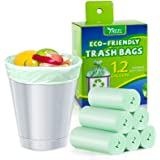 1.2 Gallon Small Trash bags Biodegradable, Mini Recycling & Degradable Garbage Bags Fit 5 Liter Can Liners for Kitchen Bathro