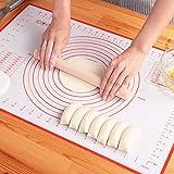 クッキングマット シリコンマット 40×60㎝ 大きいサイズ 製菓マット パンマット 目盛り付きマット 食品級シリコーン 滑り止め 調理 製菓道具