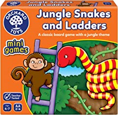 Orchard Toys 352 Mini Game (Counting) - Jungle Snakes and Ladders