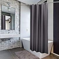 EurCross シャワーカーテン 防水 防カビ 風呂カーテン ユニットバス カーテン 軽量 速乾 無地 小さめサイズ…