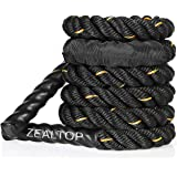 Heavy Jump Rope for Fitness Weighted Adult Skipping Rope Exercise Battle Ropes Total Body Workouts Power Training Improve Str