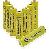 GEILIENERGY Solar Light AA Ni-CD 600mAh Rechargable Batteries,AA Rechargeable Batteries for Solar Lights Solar Lamp(8 PCS)