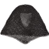 Mythrojan Chainmail Coif Armor Mild Steel Butted 16 Gauge Soldier Grade