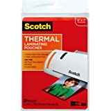3M Corp Scotch Thermal Laminating Pouches, 5 x 7-Inches, 20-Pouches (TP5903-20),Clear