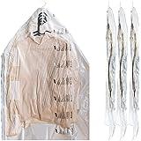 吊るせる圧縮袋 スカート用 コート用 ジャケット用 掃除機不要 2枚入 135*70cm  大容量 再利用可能な圧縮袋