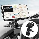 Huhoo 車 マウント, スマホ車載ホルダー クリップ 式 カーマ ウント 第2世代 ダッシュボードスタンド車 クリップ マウント 車 携帯ホルダー 360度回転 /正規保証48ヶ月/4-7インチ全機種対応 iPhone/Samsung/Sony/
