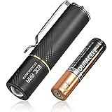 LUMINTOP EDC Flashlights 110 Lumens, Mini EDC AAA Flashlight with Glow-in-The-Dark Diffuser,Pocket Flashlights IP68 Waterproo