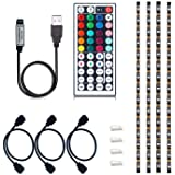 VIPMOON USB TV Backlight, Multi-Color 5050 RGB Flexible LED Strip Light with 44key Remote, Background Bias Lighting for HDTV