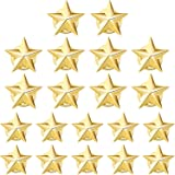 Hicarer 20 Pieces Star Badge Gold Lapel Pin for 4th of July Memorial Day Veterans Day