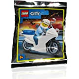 LEGO City Minifigure: Police - Motorcycle Police Officer (with Handcuffs) 60141