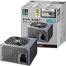 玄人志向 STANDARDシリーズ 80 PLUS 600W ATX電源 KRPW-L5-600W/80+