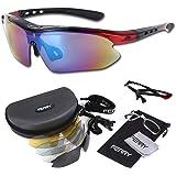 (フェリー) FERRY 偏光レンズ スポーツサングラス フルセット専用交換レンズ5枚 ユニセックス 7カラー