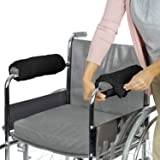 Vive Wheelchair Armrest Cover (Pair) - Memory Foam Sheepskin Pad for Office & Transport Chair - Soft Support Cushion Accessor