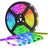 Glückluz Smart Bluetooth LED Strip Light 5 Meters 300 LEDs 5050 RGB Remote Control Decoration Lights Colorful TV Backlight Ro