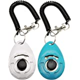 Training Clicker for Pet Like Dog Cat Horse Bird Dolphin Puppy, with Wrist Strap,2 Pcs