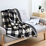 Ukeler Buffalo Plaid Throw Blanket 50''×60'' for Couch- Ultra Soft Plush Flannel Fleece Blanket Bed Throws for Kids and Adult