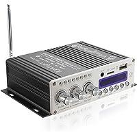 オーディオアンプ コンパクト高音質 高出力 USB/SDカード/Bluetooth対応 パワーアンプ Bluetooth…