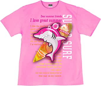 [GENJU] Tシャツ サメ 鮫 サーフボード 夏 海 裏もデザイン有 メンズ キッズ