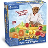 Learning Resources LER7287 Pretend & Play Sliceable Fruits & Veggies,Multi-color