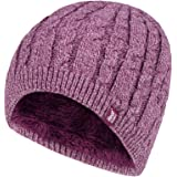 Heat Holders Alesund Cable Knit Thermal Hat Beanie (Rose Twist)