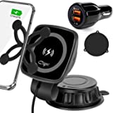 Cegar Magnetic Wireless Car Charger,10W/7.5W Qi Wireless Fast Charging Car Mount, Dashboard Phone Holder Compatible with iPho