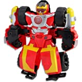 "PLAYSKOOL Heroes - Transformers - 10"" Hot Shot Rescue Bot - Action Figure - Offroad Vehicle with Lights & Sounds - Kids Toys"
