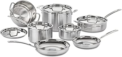 Cuisinart MCP-12N Multiclad Pro Stainless Steel 12-Piece Cookware Set