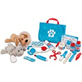 Melissa & Doug 8520 Examine & Treat Pet Vet Play Set (Animal & People Play Sets, Helps Children Develop Empathy, 24 Pieces, 2