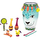 B. toys by Battat Toddler Musical Instrument Set – Jungle Animals Percussion Toys for Kids – 9 Pcs – Drums, Tambourine, Marac