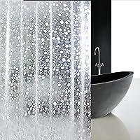AooYo シャワーカーテン 透明 90 x 180cm おしゃれ 防水 防カビ 浴室カーテン 3D EVA ポリエステ…