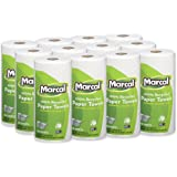 """Marcal Paper Towels U-Size-It Sheets 2 Ply 140 Sheets Per Roll 100% Recycled - 12 """"Roll Out"""" Rolls Per Case Green Seal Certif"""
