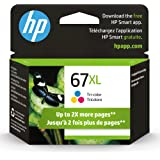 HP 67XL | Ink Cartridge | Tri-Color | Works with HP Envy 6000 Series, HP Envy Pro 6400 Series, HP DeskJet 1255, 2700 Series,