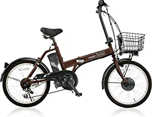 AIJYU CYCLE 折りたたみ電動アシスト自転車 パスピエ20R シマノ6段ギア 20インチ 5Ahリチウムイオンバッテリー 型式認定車両(TSマーク)