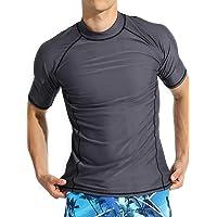 ラッシュガード メンズ 水着 UVカット 半袖 Tシャツパーカー UPF50+ al20008