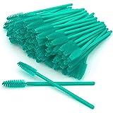 GreenLife 50 pcs/100 pcs/150 pcs/200 pcs/300 pcs/400 pcs/600 pcs/800 pcs Eyelash Brush Mascara Wands Applicator (50pcs, Blue)