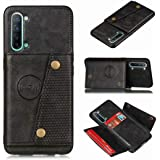 Soosos Case for Oppo A91 Leather Case with Card Slot Hidden car Magnet Wallet Phone Cover RFID Blocking Credit Card Holder PU