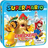 USAopoly Checkers and Tic Tac Toe Super Mario VS Bowser Board Game