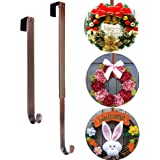 """AnCintre Wreath Hanger, Adjustable Length from 15"""" to 25"""" Wreath Hanger for Front Door Heavy Duty with 20LB Wreath Hook Holde"""