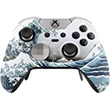 eXtremeRate Patterned Front Housing Shell Faceplate for Xbox One Elite Controller with Thumbstick Accent Rings - The Great Wa