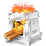 VODA Camping Wood Stove Burner for Outdoor Camping Hiking Cooking Outside Light Weight Portable Backpacking Stainless Steel S