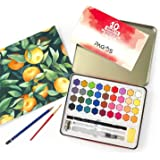 Watercolor Paint Set, 36 Colors in Metal case with Pencil and Bonus Watercolor Brush, Perfect for Students, Kids, Beginners &